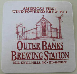 OUTER-BANKS-BREWING-STATION-Beer-COASTER-Mat-w-BREWERY-NORTH-CAROLINA-Wind-2010