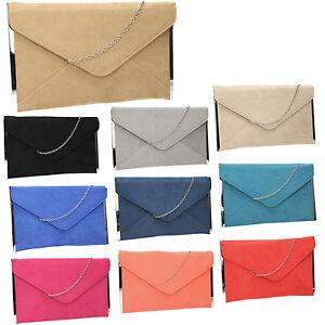 Women-Louis-Suede-Velvet-Leather-Envelope-Ladies-Evening-Party-Prom-Clutch-Bag