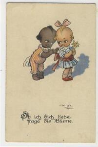 AK Ob ich dich liebe, frage die Blume, signiert K. V. 1919 - Karnabrunn, Österreich - AK Ob ich dich liebe, frage die Blume, signiert K. V. 1919 - Karnabrunn, Österreich