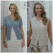 04cf87f08 Ladies Waistcoat Cardigan in King Cole Bamboo 4 Ply Yarn Knitting ...