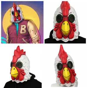 Hotline Miami Chicken Head Latex Cosplay Mask - Masks |Hotline Miami Pig Mask Rubber