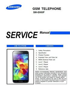 Samsung Galaxy S5 SM G900F Smartphone Service Manual Repair Guide |