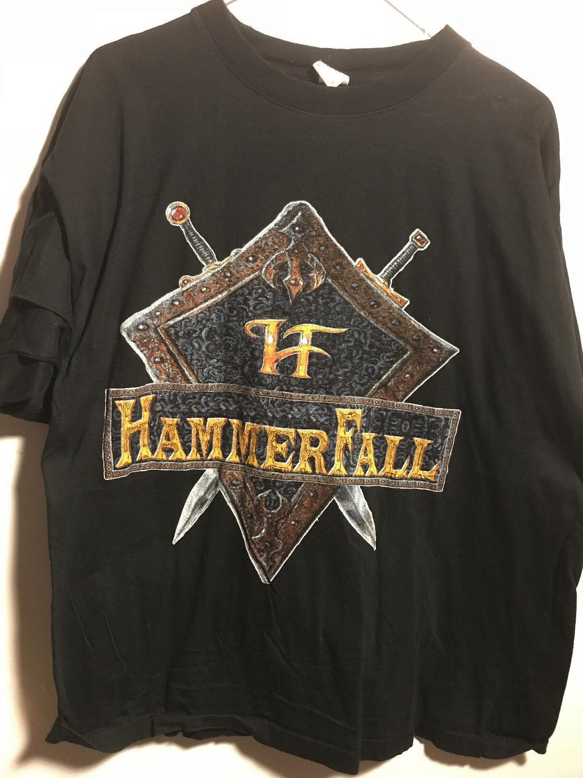 Hammerfall The Templar World Crusade 1998 1999 Tour Concert T Shirt Vintage