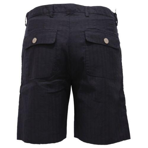 Bermuda 2589y Officina36 lin coton court bleu Pantalon CdqHxwrdU