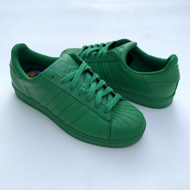 san francisco 3edcc e7fcd Adidas Human Race Superstar Originals Pharrell Williams Size 11 Green  Supercolor