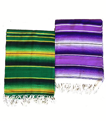 Colorful Striped Saltillo Serape Mexican Fiesta TABLE RUNNER blanket throw 72x16