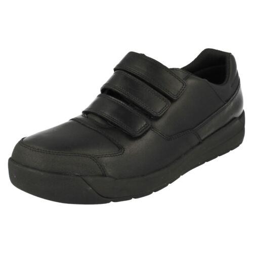 Boys Bootleg by Clarks Smart Hook /& Loop School Shoes Monte Lite