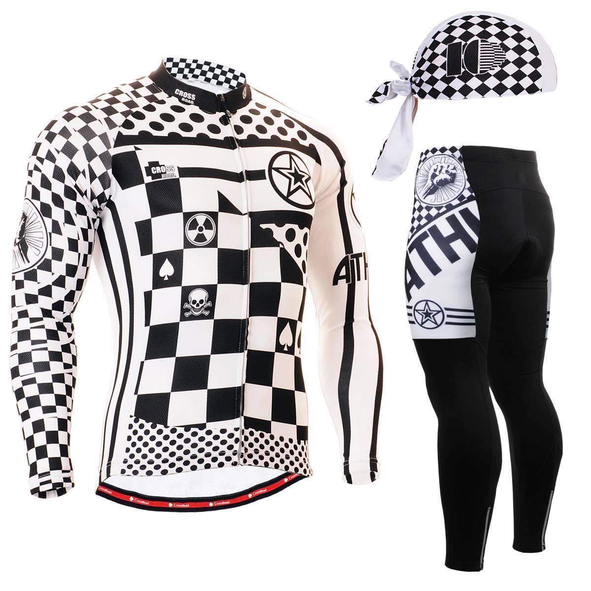 FIXGEAR & CS-601 SET Cycling Jersey & Padded Pants & FIXGEAR Bandana Rodebike MTB c7108b
