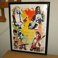 Led Zeppelin: Robert Plant: Jimmy Page: John Paul Jones/John Bonham POSTER w/COA
