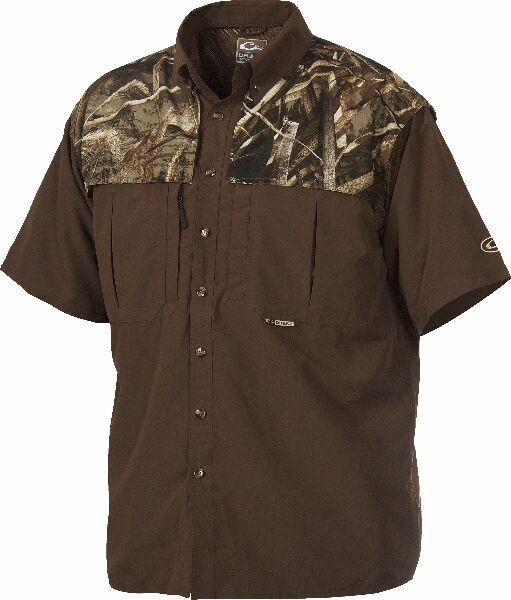 Drake Camo Two Tone Wingshooter 3-XL Short Sleeve Max-5 Camo Waterfowl New