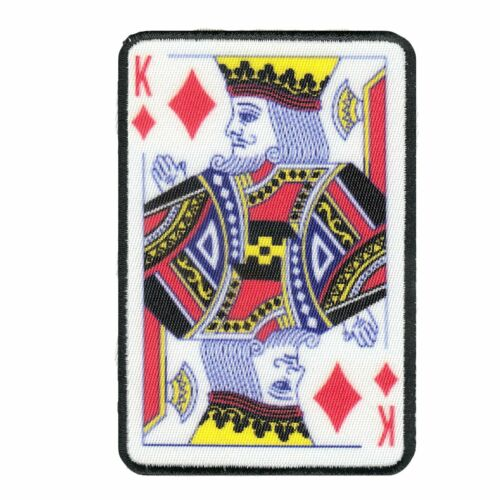 King Of Diamonds Card Embroidered Iron-on Foto Patch
