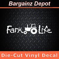 Vinyl Decal... farm Life... Cool Farmer Tractor Truck Vinyl Sticker Decal