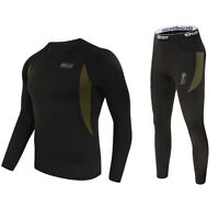 Esdy Men Thermal Underwear Outside Suit Fleece Thermo Pullover Fast Dry Wst43