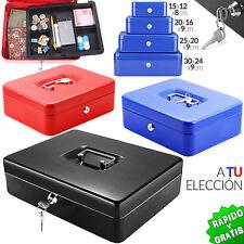 CAJA DE CAUDALES METÁLICA LLAVE COLORES TAMAÑOS AHORRO METAL CASH BOX SAVINGS