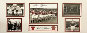 HARRY GREGG SIGNED MANCHESTER UNITED 30x12 PHOTO BUSBY BABES MUNICH 1958 PROOF