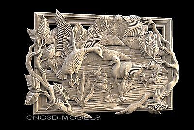 3D STL Models for CNC Router Engraver Carving Artcam Aspire Bird 736
