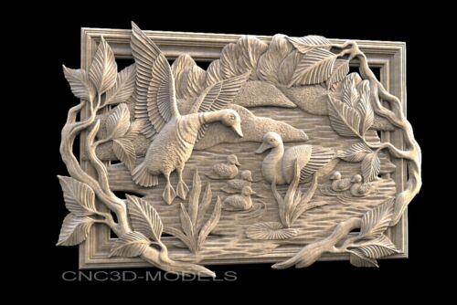 3D STL Models for CNC Router Engraver Carving Artcam Aspire Bird 736