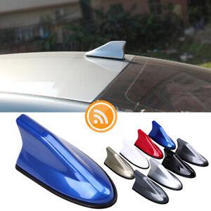 Blue Car Shark Fin Roof Antenna FM/AM Radio Signal Waterproof Aerial Universal