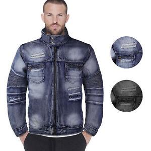 Contender Men S Distressed Multi Pocket Zip Up Cotton Denim Jean