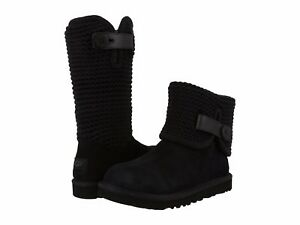 089f6aee7d1 UGG Women's Fashion Shaina Knit Bootie Boots Black Chestnut Grey NEW ...