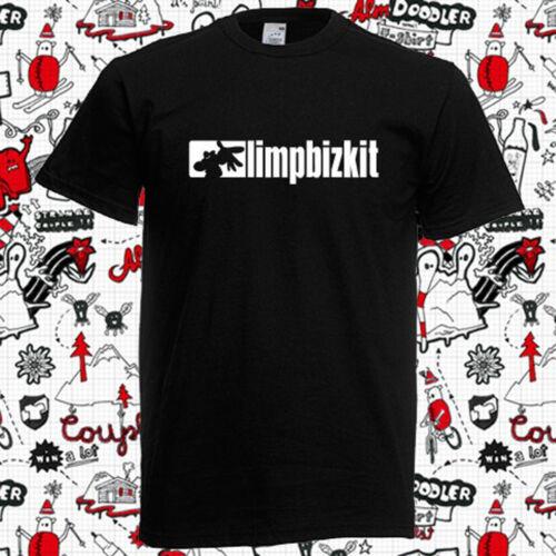Limp Bizkit Simple Logo Men/'s Black T-Shirt Size S M L XL 2XL 3XL