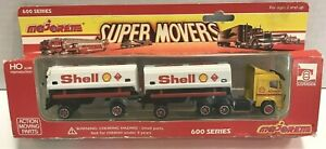 VINTAGE MAJORETTE 600 SERIES SUPER MOVERS SHELL TRACTOR TRAILER TRUCK NEW!