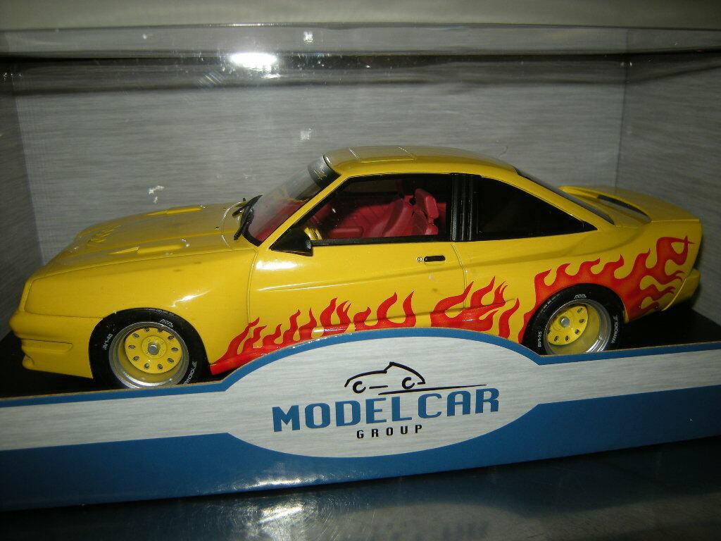 1 18 Model Car Group Opel Manta B Mattig Gelb with Flame Nr. 18115 in OVP