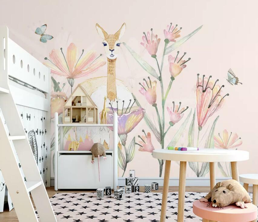 3D Deer Painting I2109 Wallpaper Mural Sefl-adhesive Removable Sticker Wendy