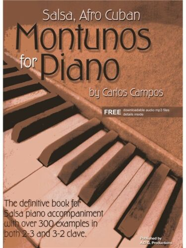 Salsa Afro Cuban Montunos For Piano Online Audio Learn to Play MUSIC BOOK//AUDIO