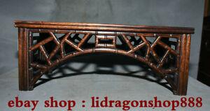 15-2-034-Antique-chine-Huanghuali-bois-sculpte-main-en-bambou-Table-bureau-meubles