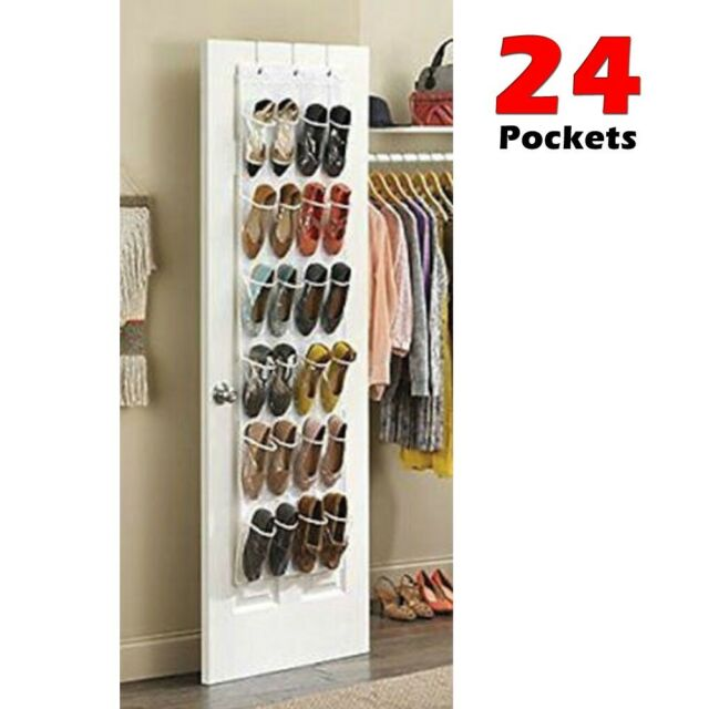 24 Pockets Over Door Hanging Shoes Rack Hanger Storage Organizer