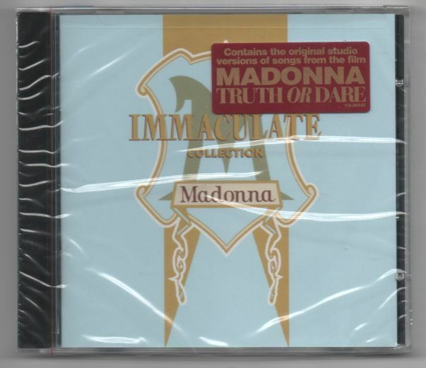 Madonna The Immaculate Collection 1990 CD First Press with Hype Sticker Holiday