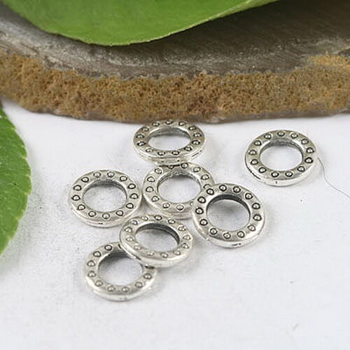 20pcs tibetan silver color 2sided round LOVE lettering charms EF2379