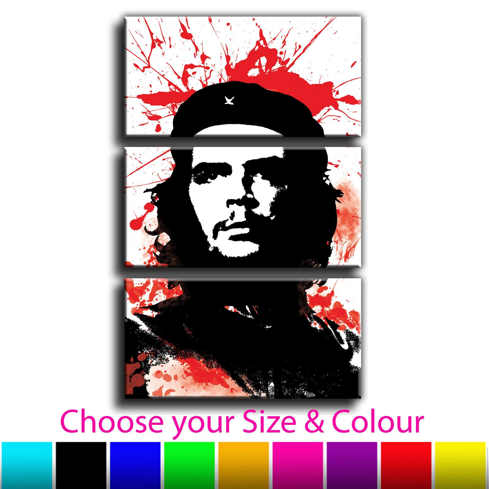 Che Guevara Iconic Celebrities Canvas Print Picture Treble Various Größes
