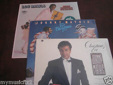 JOHNNY MATHIS, & LOU RAWLS CHRISTMAS VINYL OUT OF PRINT RARE Set