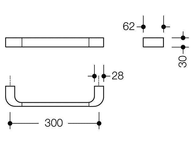 Hewi System 800 verchromt Haltegriff Achsenmaß 300 mm mm mm | Neue Sorten werden eingeführt  53c7c0