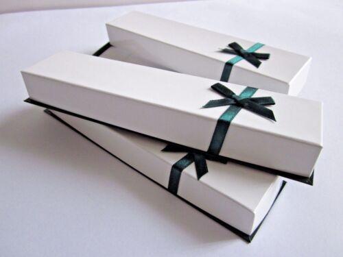 Long Jewellery Box Gift//Present Box HP9W Watch,Bracelet,Pen,Chain White//Green