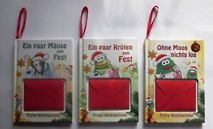 Geldgeschenk Buch Geld Verpackung Grusskarte Kroten Mause Moos