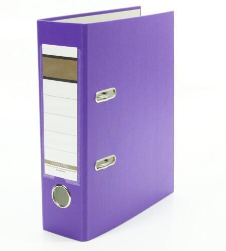 5x Ordner Farbe lila 75mm DIN A5