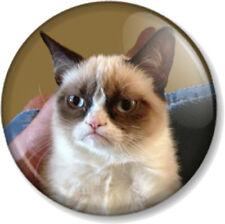 "Grumpy Cat 25mm 1"" Pin Button Badge Internet Meme Funny Pet Humour Comedy Cute"
