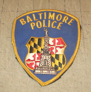 """BALTIMORE CITY POLICE (Maryland) 5"""" Used Shirt/Coat Arm Shoulder or Hat Patch"""