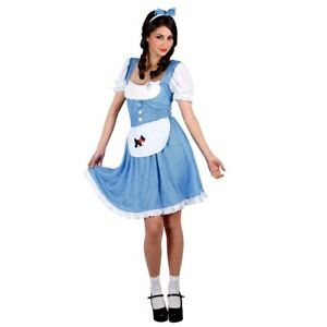 Ladies Country Girl Dorothy Wizard Of Oz Fancy Dress Costume Uk