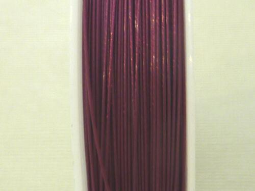 Schmuckdraht Juwelierdraht Stahlseide 0,45 mm brombeer 50 m Basteldraht 2249