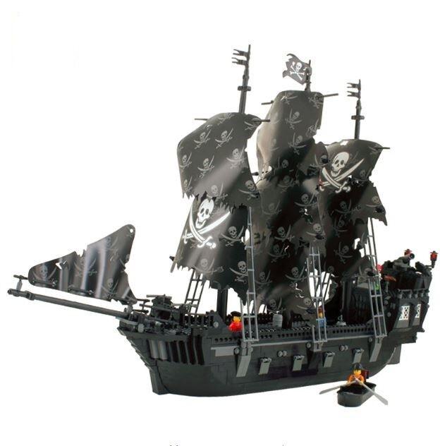 Nuevo Kazi 1184 un. Piratas Del Caribe Perla Negra Barco bloques grandes Modelo