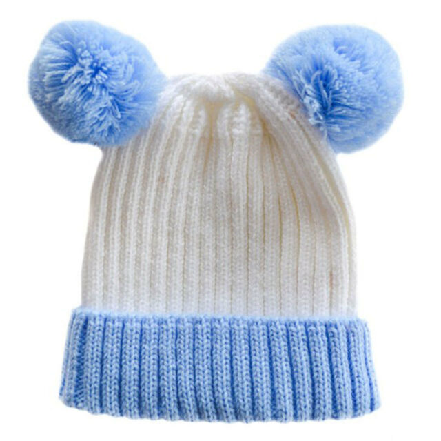 Soft Touch Baby Boys Girls Cable Knit Pom Pom Hat with Mittens Set Winter Hat NB-6 M H495
