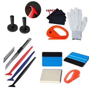 Car-Vinyl-Wrap-Tools-3M-Felt-Squeegee-Carbon-Fiber-Knife-Blade-Window-Tint-Kit