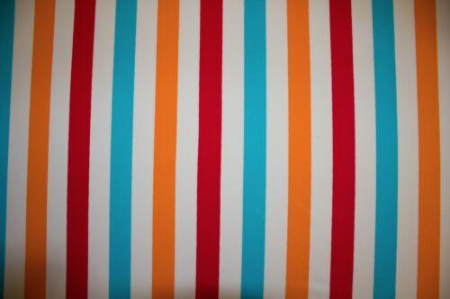Multicolor Stripe Print #377 Nylon Lycra Spandex 4 Way Stretch Swim Active BTY