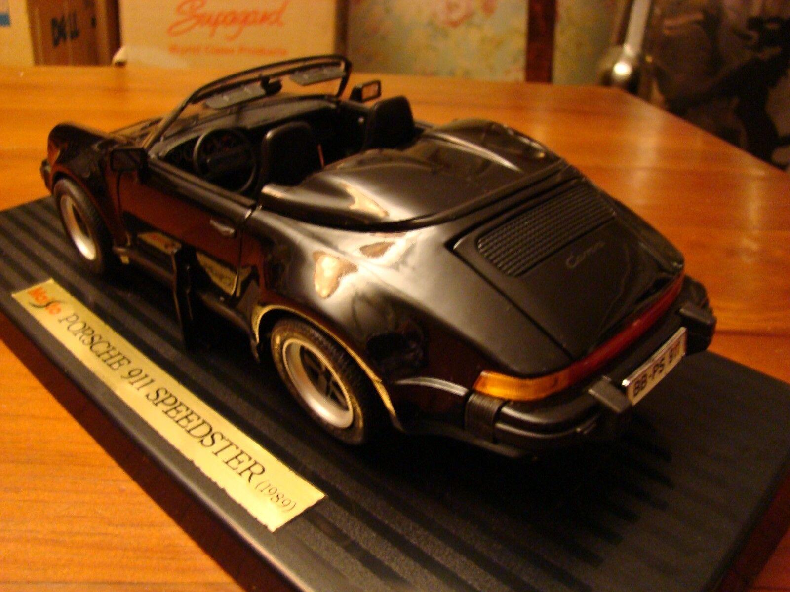 1 18 Porsche 911 Speedster 1989 RARE Noir noir