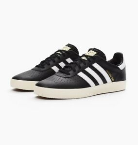 premium selection a9872 becf3 Image is loading NEW-ADIDAS-350-LEATHER-S76213-MENS-BLACK-WHITE-