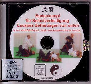 Bodenkampf realistische Selbstverteidigung Escapes Befreiungen von unten DVD BJJ